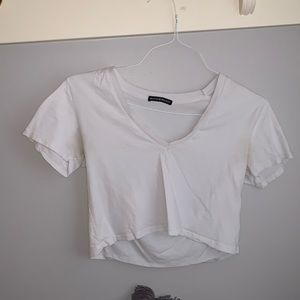 Brandy Melville Cropped White Tee
